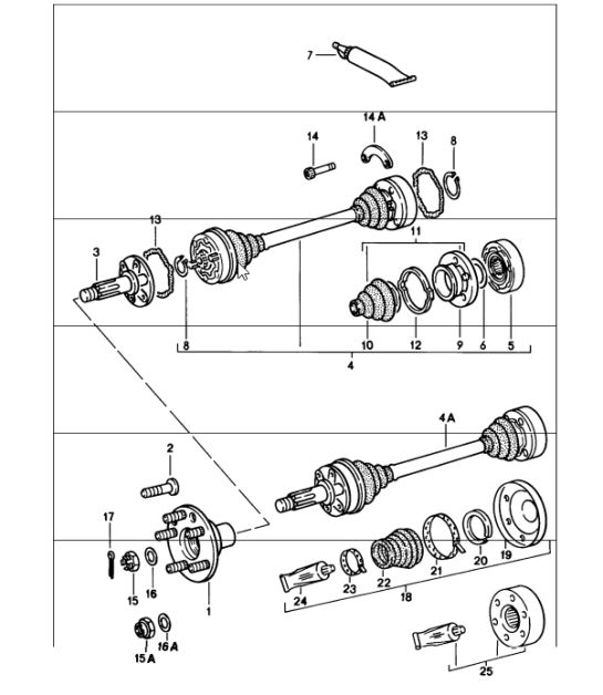 Drive shaft / axle flanges 915 and 930 transaxles 92333223201