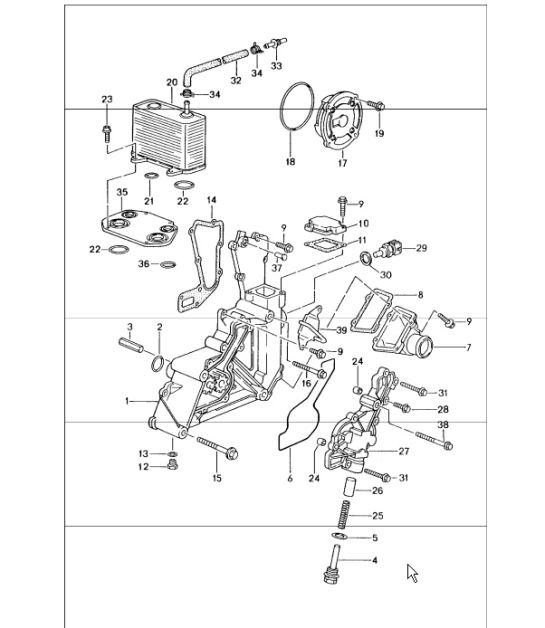 Oil Pump 986 Boxster 199704: Porsche Boxster Engine Diagram At Hrqsolutions.co