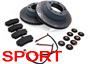 Porsche 997 MKI (911) 2005-08 997 Carrera 4 3.6L 2005>> SPORTS Brake Pads & Disc Package