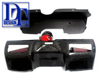 Air Induction Kit Y-System and Carbon Cover for Porsche 997 MKII Carrera C2/4  DesignTek