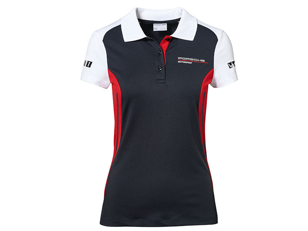 Porsche Motorsport Womens Black Polo