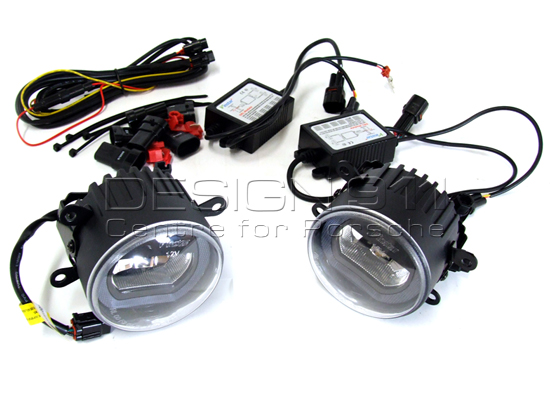 Front Fog Lamps Black LED with DRL  Daytime Running Lights