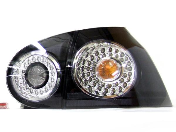 Rear Indicator Units LED Black Internal VW GOLF MK5 (PAIR