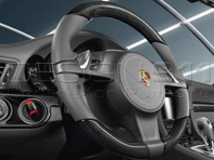 Multi-function steering wheel in Carbon. Porsche 991 / 981 Boxster / 981C Cayman